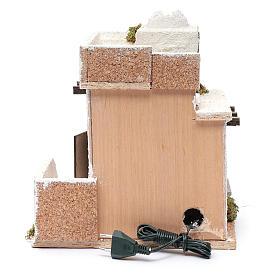 Casa araba porte in legno cupola e terrazzo 30x25x20 cm presepe napoletano s4