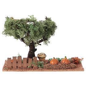 Szene Gemüsegarten 15x20x10cm für Krippe s4