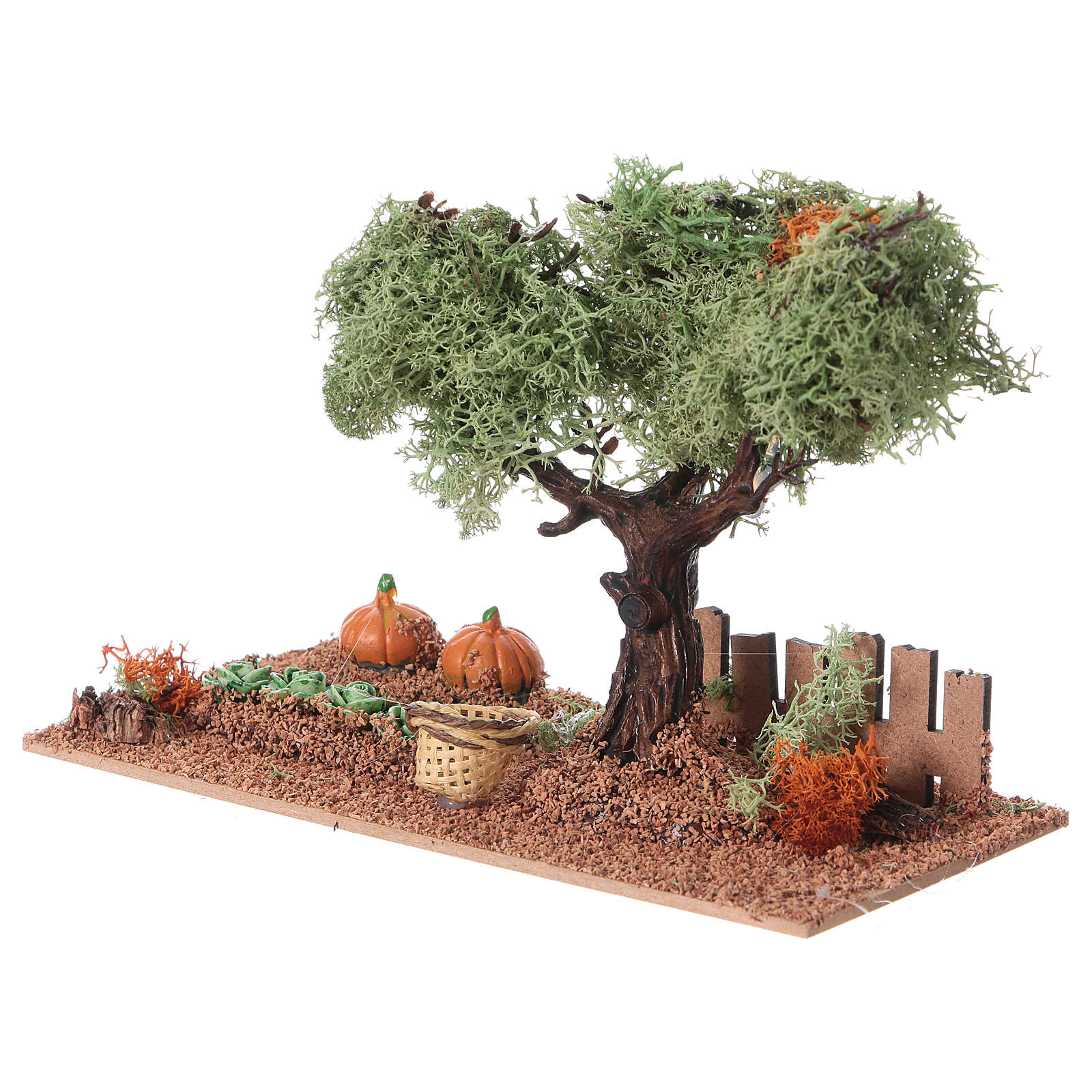 Nativity scene vegetable garden 15x20x10 cm 4