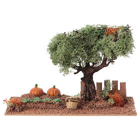 Nativity scene vegetable garden 15x20x10 cm s1