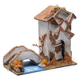 Vieux moulin à vent crèche 22x25x12 cm s3