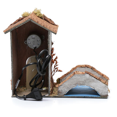 Old nativity scene windmill 20x25x10 cm 4