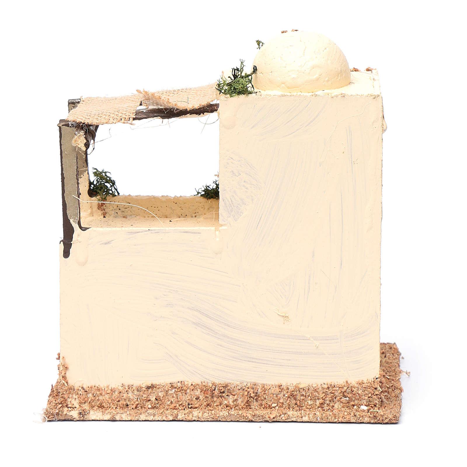 Casa araba in legno per presepe assortita 20x15x10 cm 4