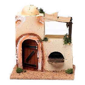 Casa araba in legno per presepe assortita 20x15x10 cm s1