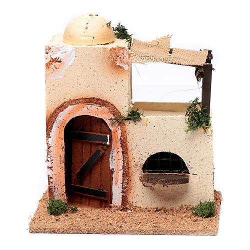 Casa araba in legno per presepe assortita 20x15x10 cm 1