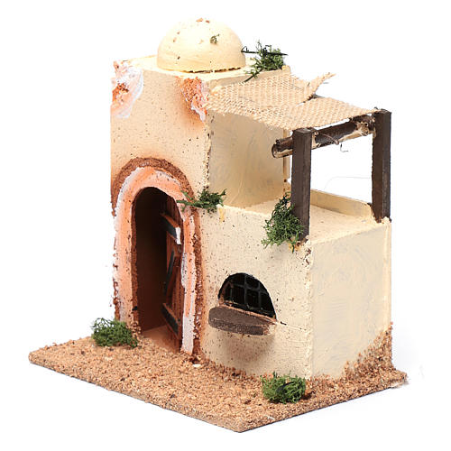 Casa araba in legno per presepe assortita 20x15x10 cm 2