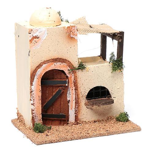 Casa araba in legno per presepe assortita 20x15x10 cm 3