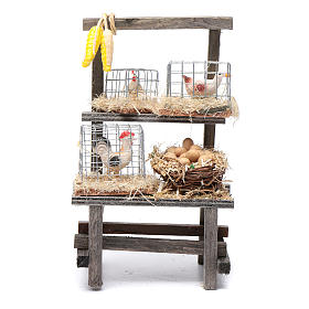 Settings, houses, workshops, wells: Cage counter for nativity scene 15x10x5 cm