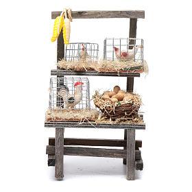 Maisons, milieux, ateliers, puits: Étagère avec cages crèche 15x9x6 cm
