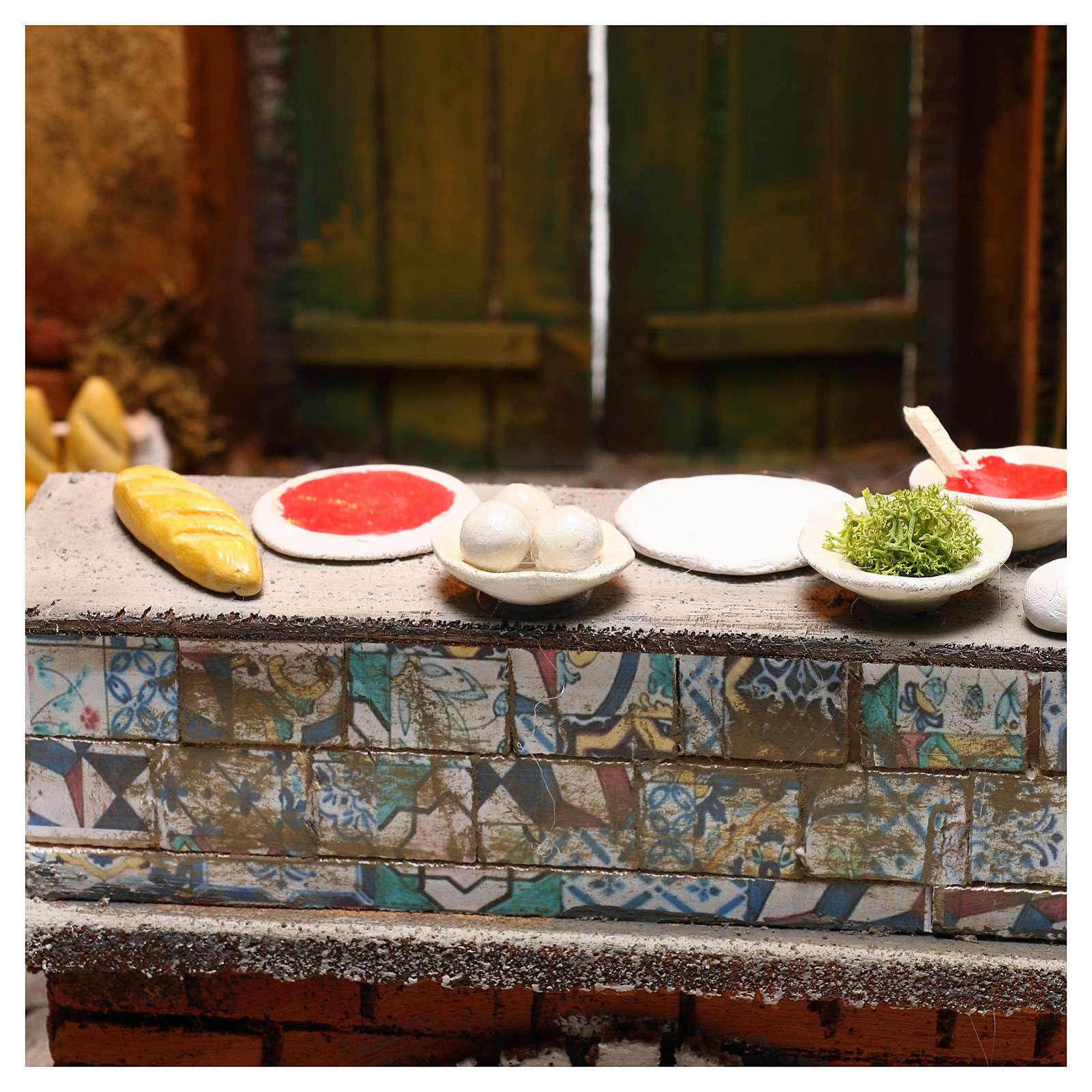 Ambientazione forno presepe 24 cm di Napoli 4