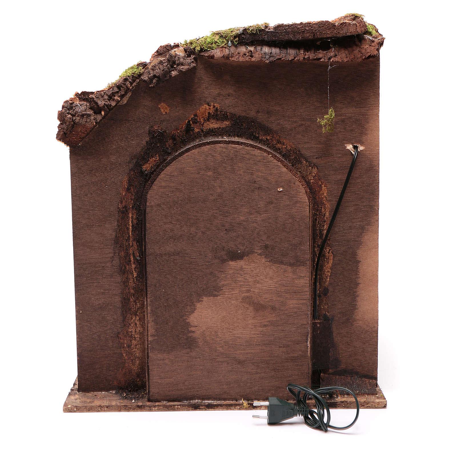Ambientazione interno casa 50x40x40 cm presepe Napoli 24 cm 4