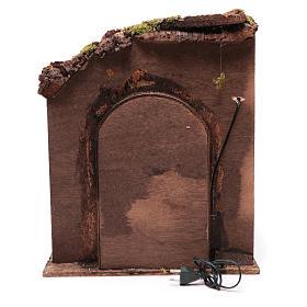Ambientazione interno casa 50x40x40 cm presepe Napoli 24 cm s4