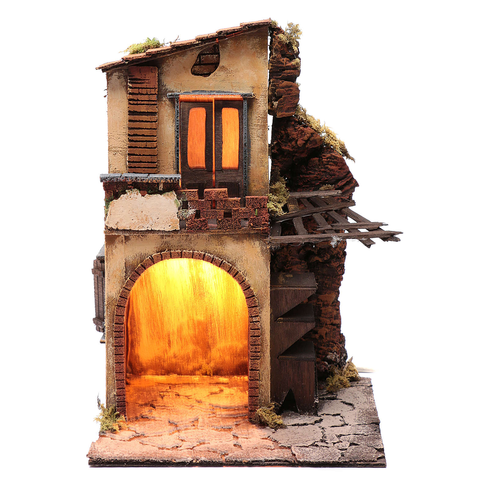 Casa Balcone E Capanna E Tettoia 40x25x25 Cm Presepe Napoli Ebay
