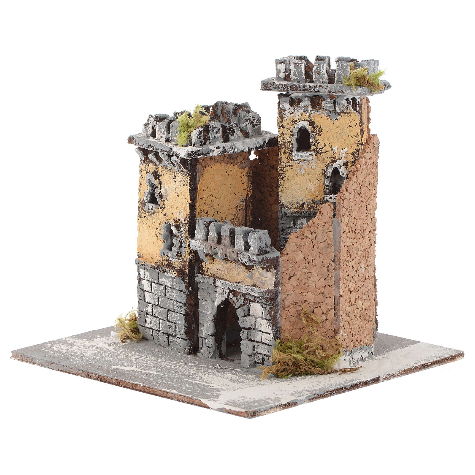 Castello due torri e arco 15x15x15 cm presepe Napoli 4