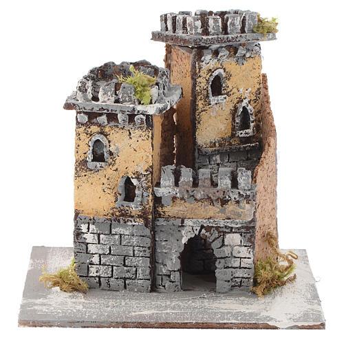 Castello due torri e arco 15x15x15 cm presepe Napoli 1
