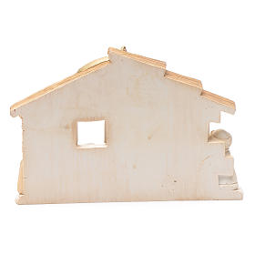 Resin hut for nativity scene 10x15 cm s3