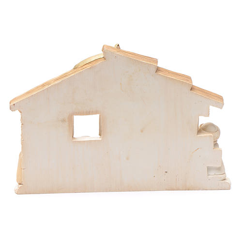 Resin hut for nativity scene 10x15 cm 3