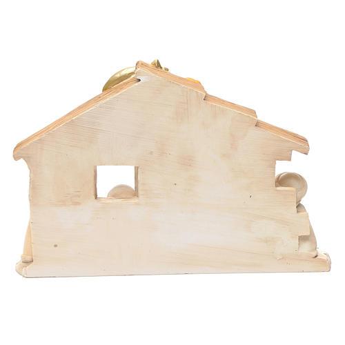 Cabana presépio crianças 15x20 cm resina 4