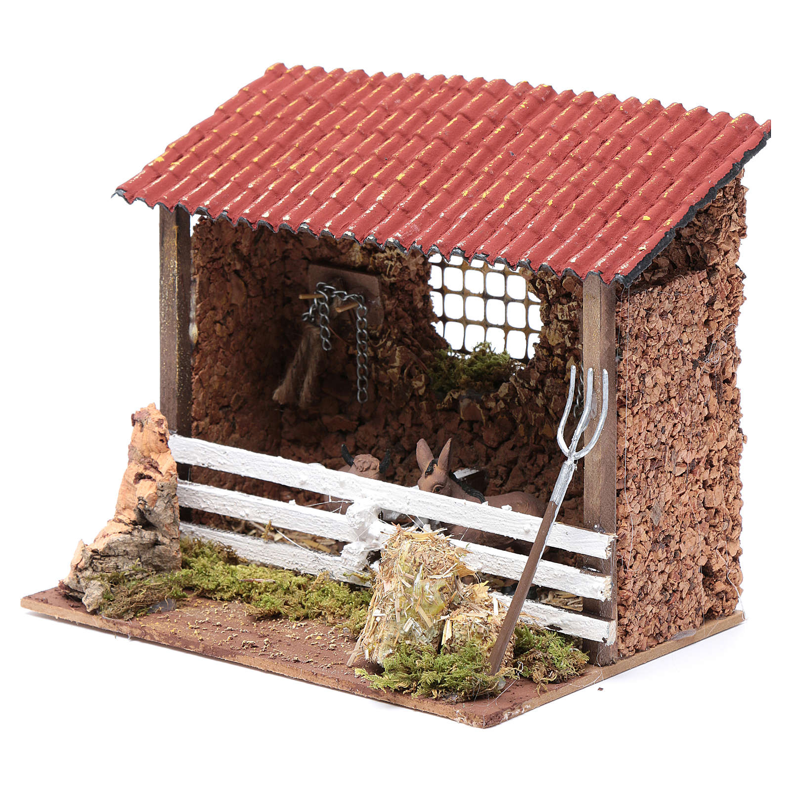 Barn for donkey and ox crib 3