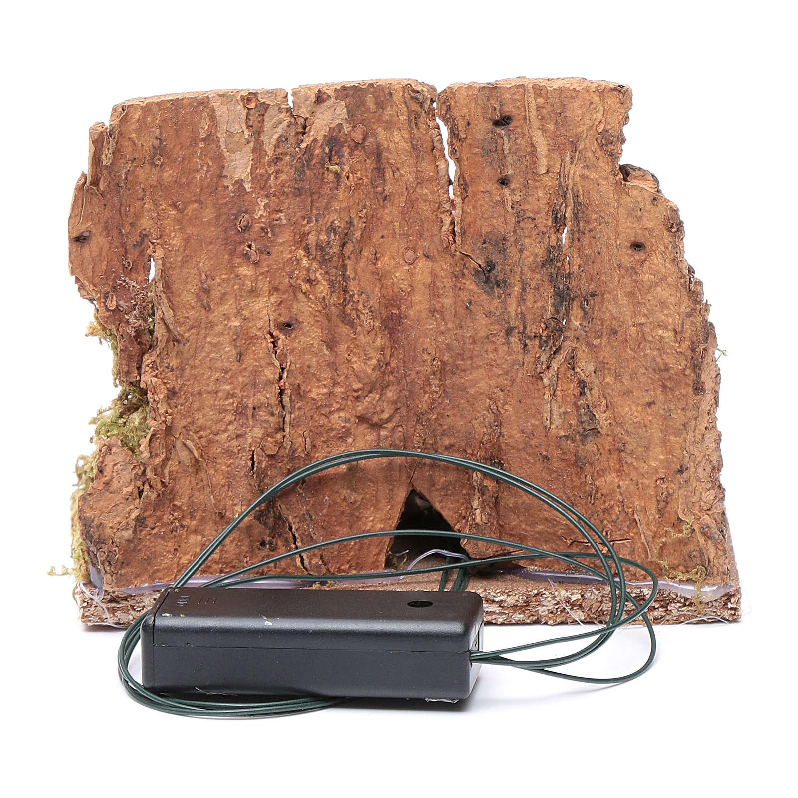 Ambientazione brocca su fuoco tremolante led 10x10x10 cm presepe 4