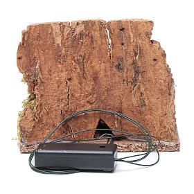 Ambientazione brocca su fuoco tremolante led 10x10x10 cm presepe s4