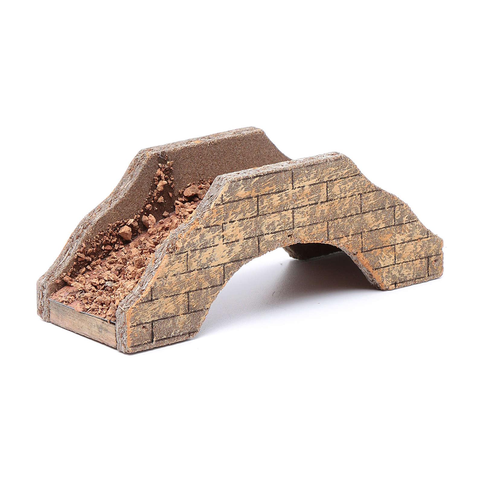 Ponte per presepe in legno 5x15x6 cm 4