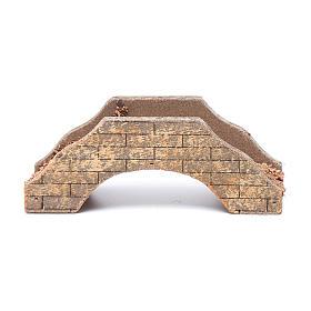 Nativity scene bridge in wood 5x15x6 cm s1