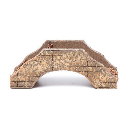 Nativity scene bridge in wood 5x15x6 cm 1