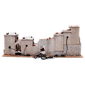 Décor crèche style arabe 33x97x45 cm éclairage et puits s4