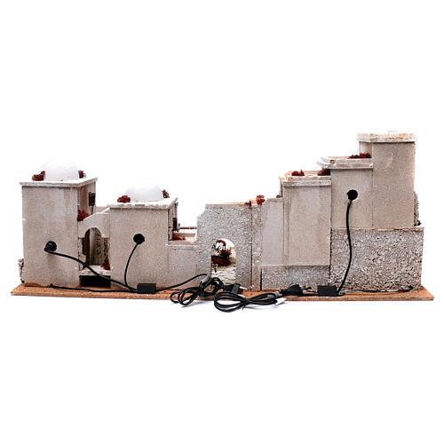 Décor crèche style arabe 33x97x45 cm éclairage et puits 4