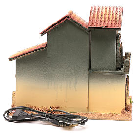 Décor avec cheminée et éclairage 24,5x30x20 cm s4
