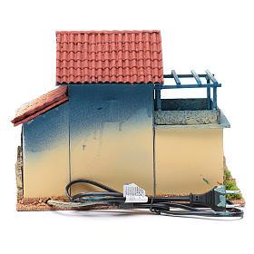 Décor cheminée éclairage et terrasse 22,5x30x20 cm s4