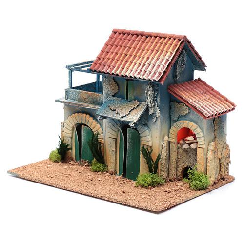 Décor cheminée éclairage et terrasse 22,5x30x20 cm 2