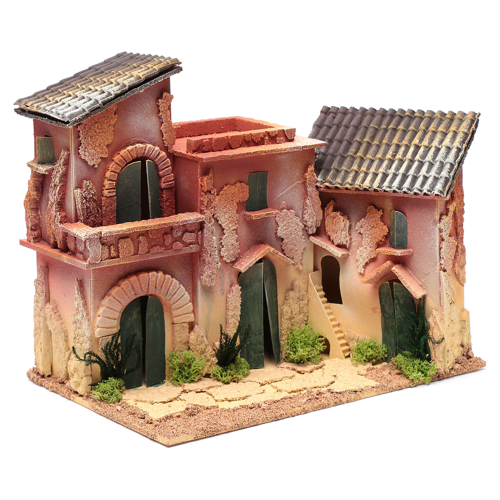 Nativity scene village 25x30x20 cm 4