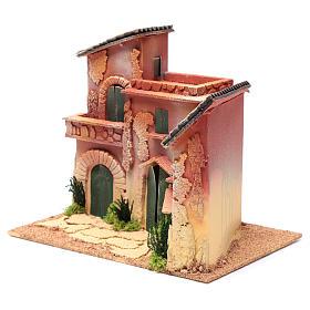 Village maisons 24,5x30x20 cm pour crèche s2