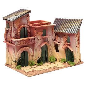 Village maisons 24,5x30x20 cm pour crèche s3