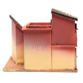Village maisons 24,5x30x20 cm pour crèche s4
