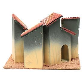Wohnblock mit Bogengang 25x30x20cm für Krippe s4
