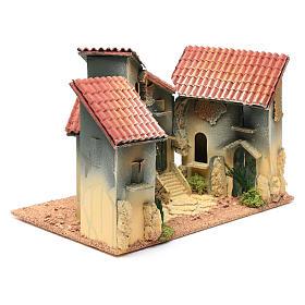 Nativity scene village with arch 25x30x20 cm s3