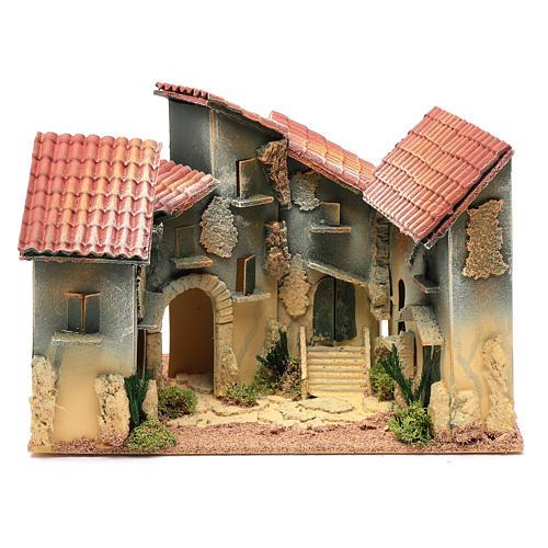 Nativity scene village with arch 25x30x20 cm 1