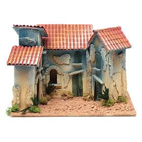 Aldea casas y pequeña cabaña 20x30x20 cm s1