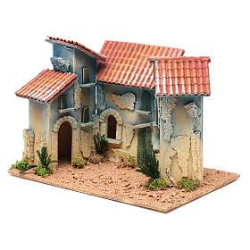 Aldea casas y pequeña cabaña 20x30x20 cm s2