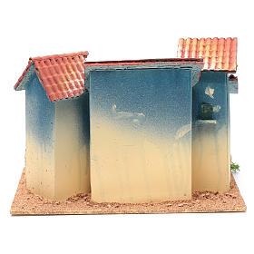 Aldea casas y pequeña cabaña 20x30x20 cm s4