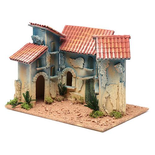 Aldea casas y pequeña cabaña 20x30x20 cm 2