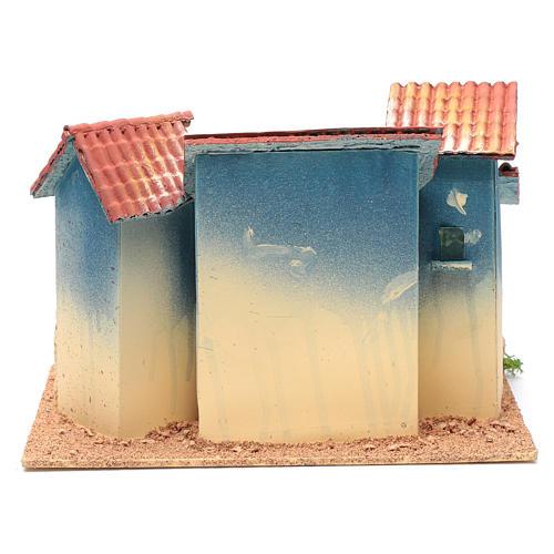 Nativity scene village with small hut  20x30x20 cm 4