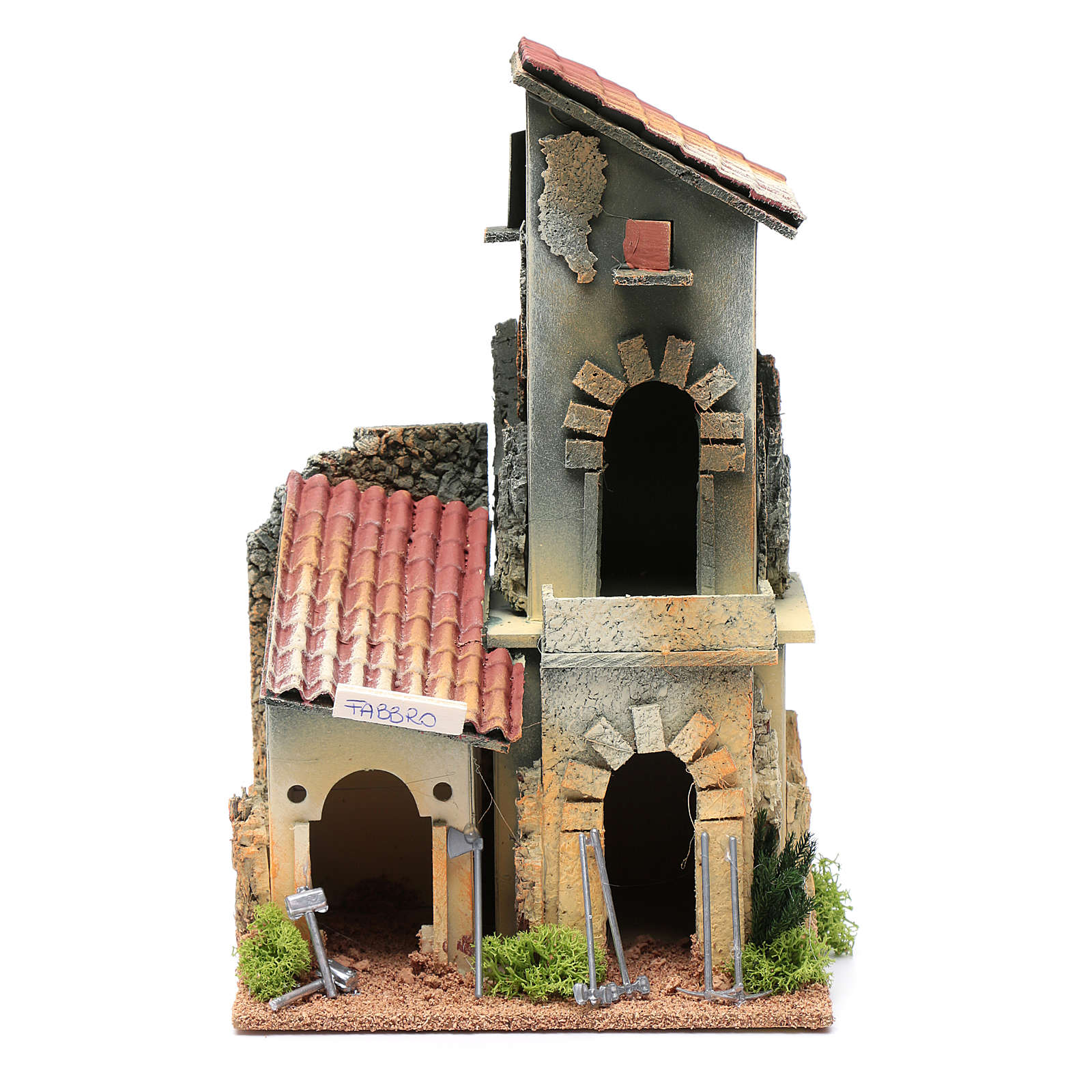 Décor avec atelier forgeron 28,5x18x15 cm 4