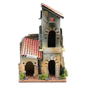 Décor avec atelier forgeron 28,5x18x15 cm s1
