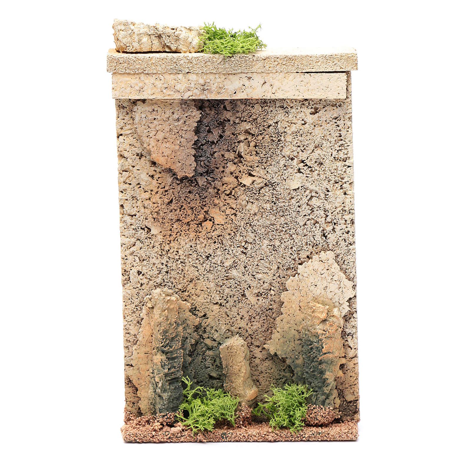 Muro di cinta 25x15x5 cm per presepe 4