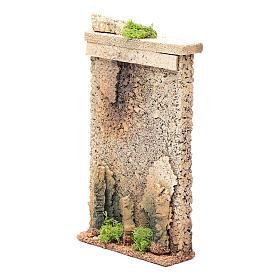 Muro di cinta 25x15x5 cm per presepe s2