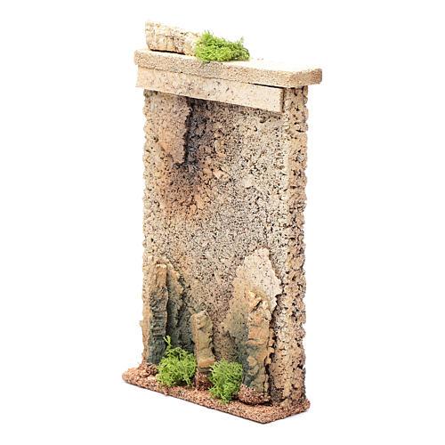 Muro di cinta 25x15x5 cm per presepe 2